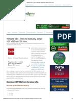 VMware NSX - How to Manually Install NSX VIBS on ESXi Host