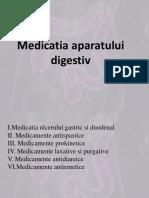 Medicatia Aparatului Digestiv CURS