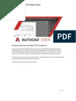 Autodesk 2019 Product Keys - Civil Engineering Community