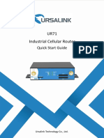 Ursalink UR71 Industrial Cellular Router Quick Start Guide