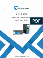 Ursalink UR72 Industrial Cellular Router Quick Start Guide
