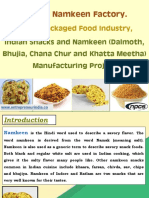 Start a Namkeen Factory. Salted Packaged Food Industry