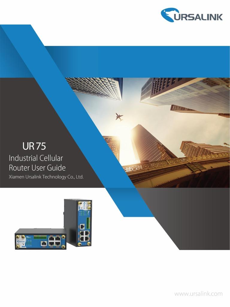 Ursalink UR75 Industrial Cellular Router User Guide | Wi Fi | Ieee