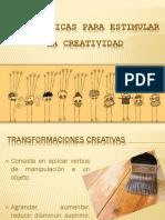 Más Técnicas Para Desarrollar La Creatividad