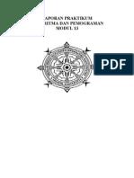 LAPORAN PRAKTIKUM MODUL 13 Algoritma Dan Pemograman