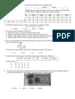 Eval Final 1er Periodo 6to matemáticas