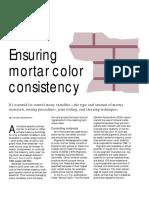 Masonry Construction Article PDF_ Ensuring Mortar Color Consistency