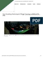 Up-grading Kelompok Minat Caving Lawalata Ipb – Lawalata Ipb