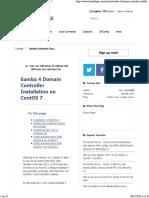 Samba 4 Domain Controller Installation on CentOS 7