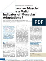 Is Post exercise Muscle Soreness a Valid Indicator