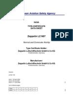 EASA ZeppelinNT LZ N07-100 Type Certificate
