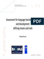 Assessment Assessment for Language Language Teacher Teacher Education Educatio
