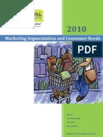 Marketing Segmentation and Consumer Needs_Final_2010