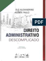 Marcelo Alexandrino Direito Administrativo Descomplicado 24ª Ed. 2016 Reduzido