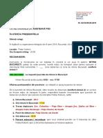 DOCUMENT/ Mitingul PSD din 9 iunie. Circulare trimise în toate judeţele