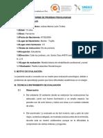Informe de Pruebas Psicologicas Julissa
