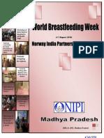 Summary Report on World Breast Feeding Week 2010 Report