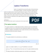 Laplace Transform Good Revision