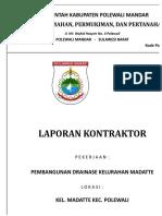 LAP. Pembangunan Drainase MADATTE