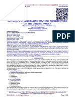 INFLUENCE OF A ROTATING MACHINE ARCHITECTURE ON THE DRIVING POWER