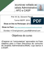 Afo e Casp - Topico Unico - Anac - Discursiva - Final