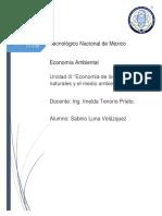 Unidad 3 Economía de los recursos naturales y el medio ambiente