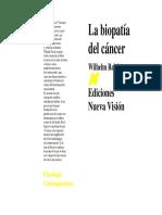 La Biopatía Del Cancer