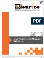 India Paint Market Overview, 2018-2023