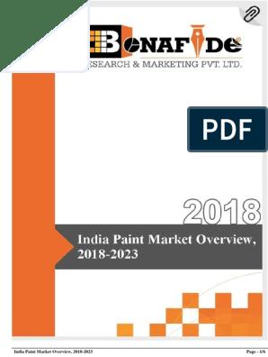 India Paint Market Overview 2018 2023 Forecasting Market Segmentation