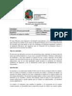 Programa de La Asignatura MECÁNICA Para ING_ELÉCTRICA 2017 I