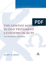 (Library of New Testament Studies Volume 385) James a. Meek-The Gentile Mission in Old Testament Citations