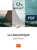 La Linguistique (Jean PERROT) [18e Édition, 2010]