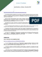 A Legislação Brasileira e o Autismo Nov 2010