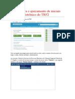 Manual de Ajuizamento de Acao Eletronica Inicial