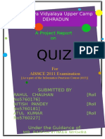 Quiz project report