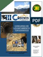 "Bases Del Concurso de Topografia - III CONGRESO NACIONAL DE MINERIA ""III CODEMIN"""