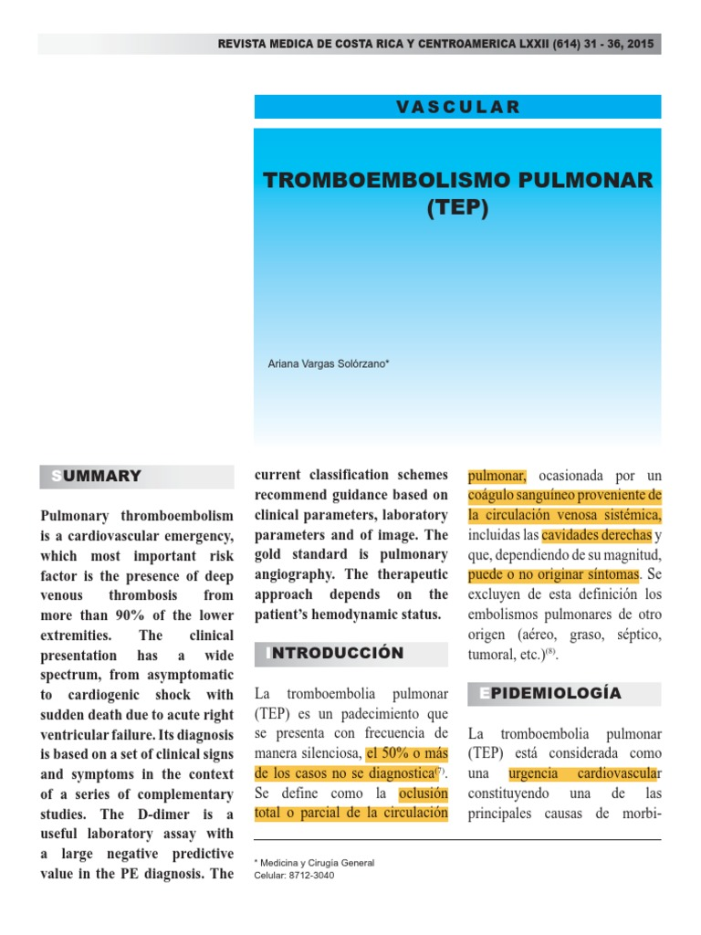 Sistémico tromboembolismo definición de