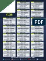 Calendrier Ligue 1 saison 2018-2019