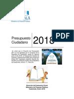 1-Presupuesto 2018 Para Ciudadano
