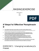 Paraphrasing Exercise- 2018