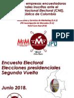 Encuesta electoral de la segunda vuelta presidencial