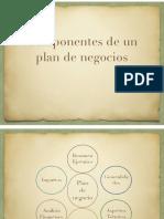 Componentes Plan de Negocio