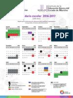 Calendarios Oficiales 2016-2017