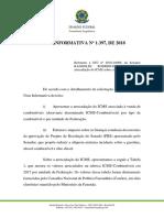Nota Consultoria Redução ICMS Estimativa Geral