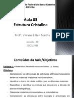 Aula 03_ Estrutura Dos Sólidos Cristalinos_parte 1