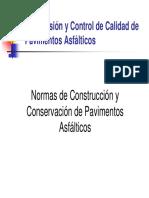 Normas de Construcción y Conservación de Pavimentos Asfáltic