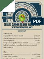 Grilled summer squash sandwiches