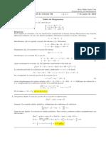 Corrección Segundo Parcial de Cálculo III, jueves 7 de junio de 2018