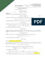 Corrección Segundo Parcial de Cálculo III, lunes 4 de junio de 2018