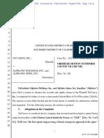 Nuvasive v. Alphatec - Order Granting MTD